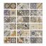 Treviso dekor - izmenjajoči se vzorci