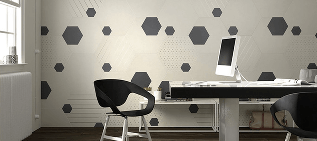 Heksagonalne oblike keramike dajejo prostoru značaj